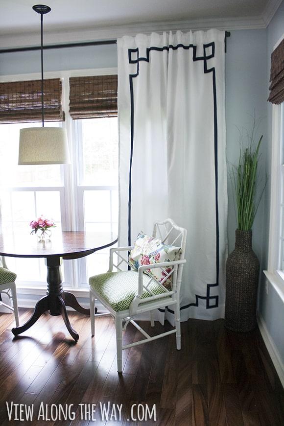 DIY Greek key curtains