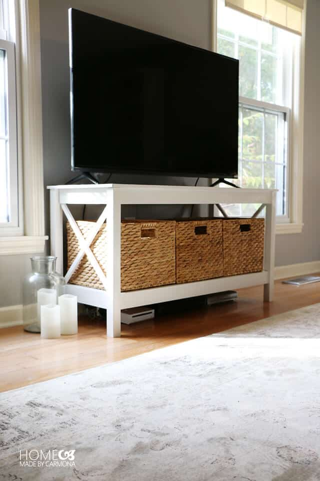 DIY X-leg TV stand