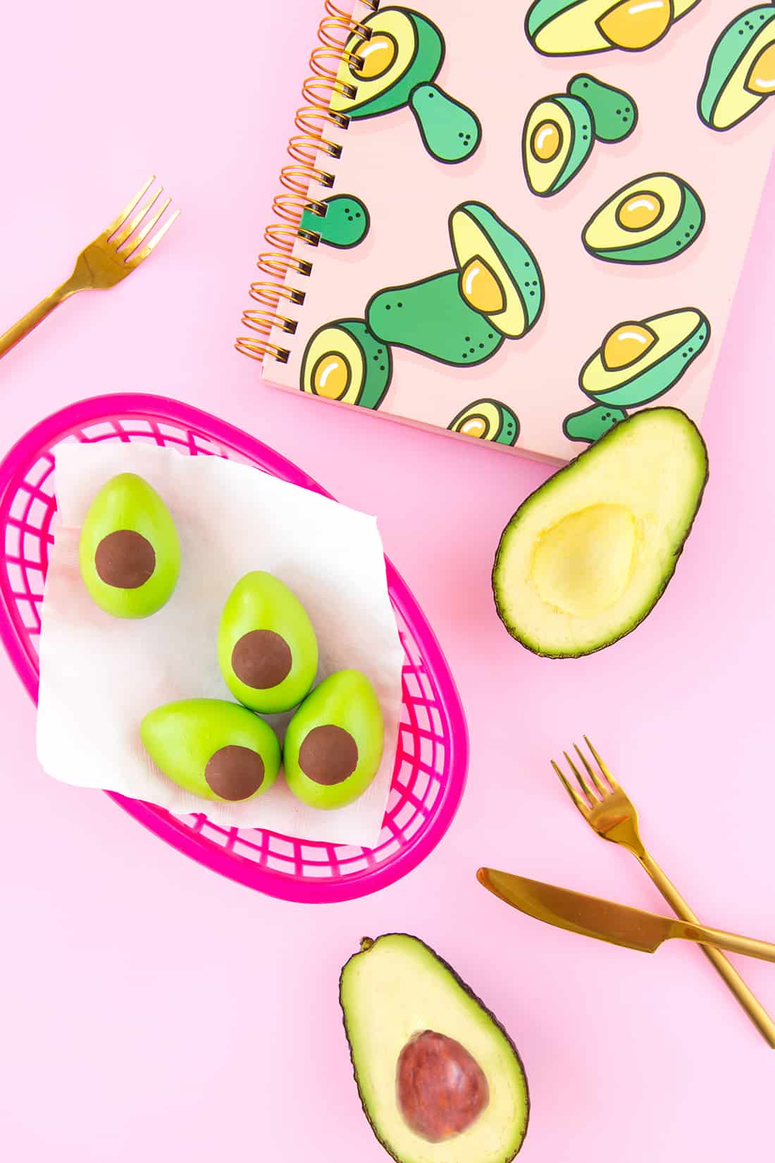 DIY avocado Easter eggs