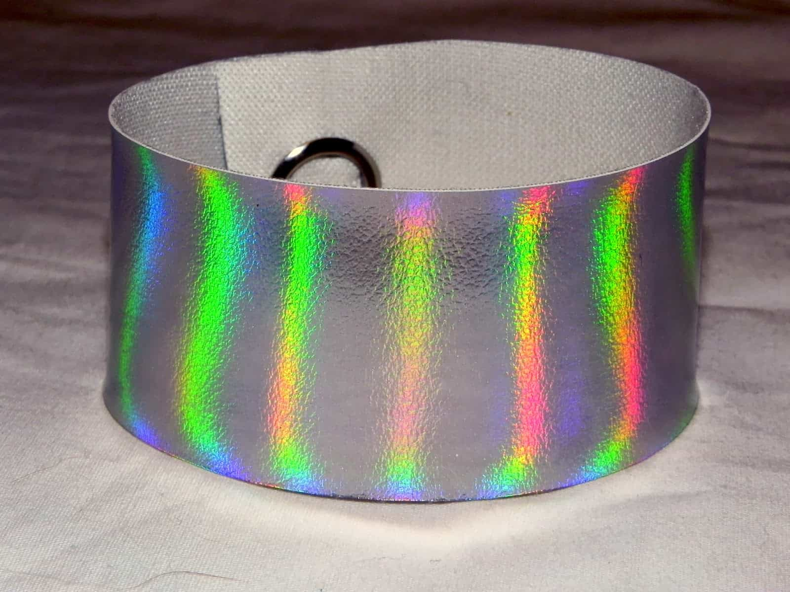 DIY holographic cuff bracelet