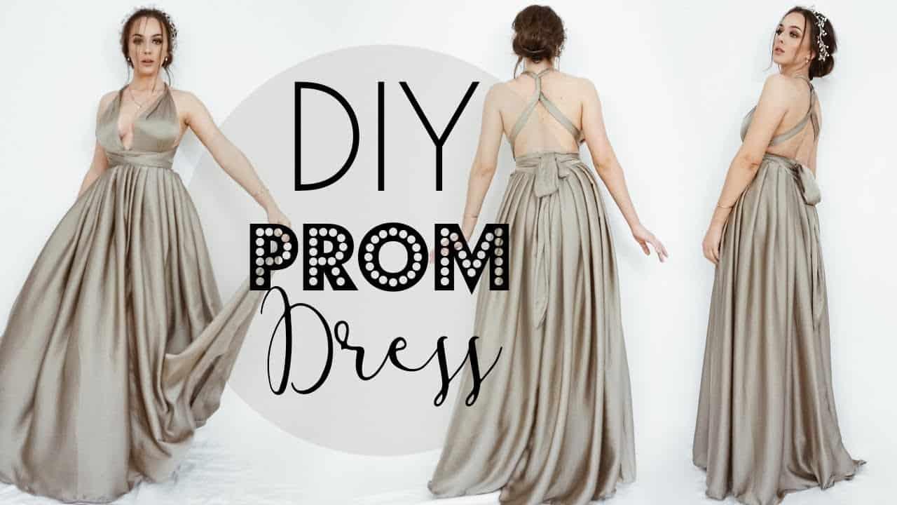 DIY long silk wrap dress