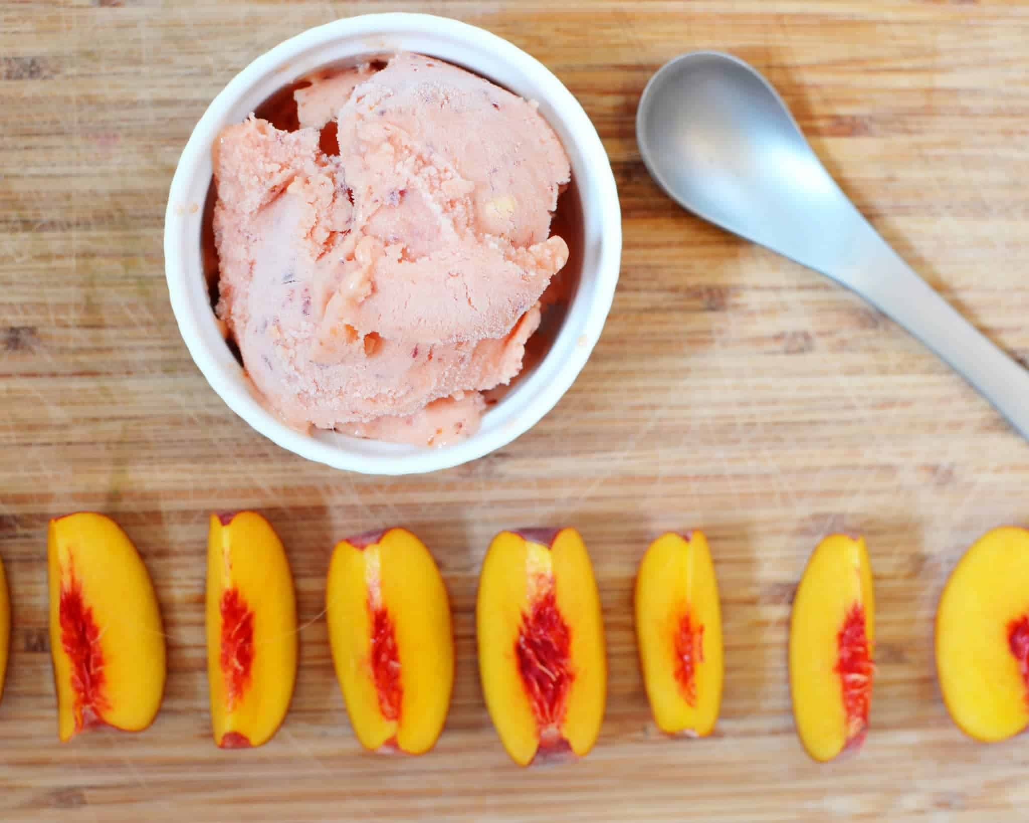 DIY peach sherbert