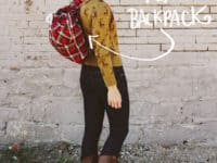 DIY plaid backpack 200x150 Going Classic with Pattern: Plaid Inspired Projects