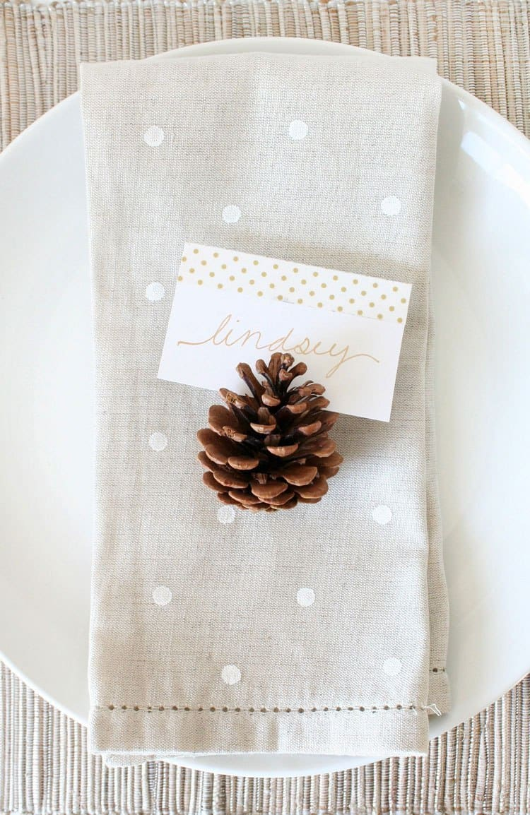 DIY pokla dot napkins