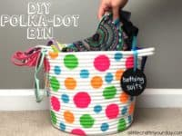 DIY polka dot storage bin 200x150 Timeless Pattern Back in Style: Polka Dot Themed Crafts