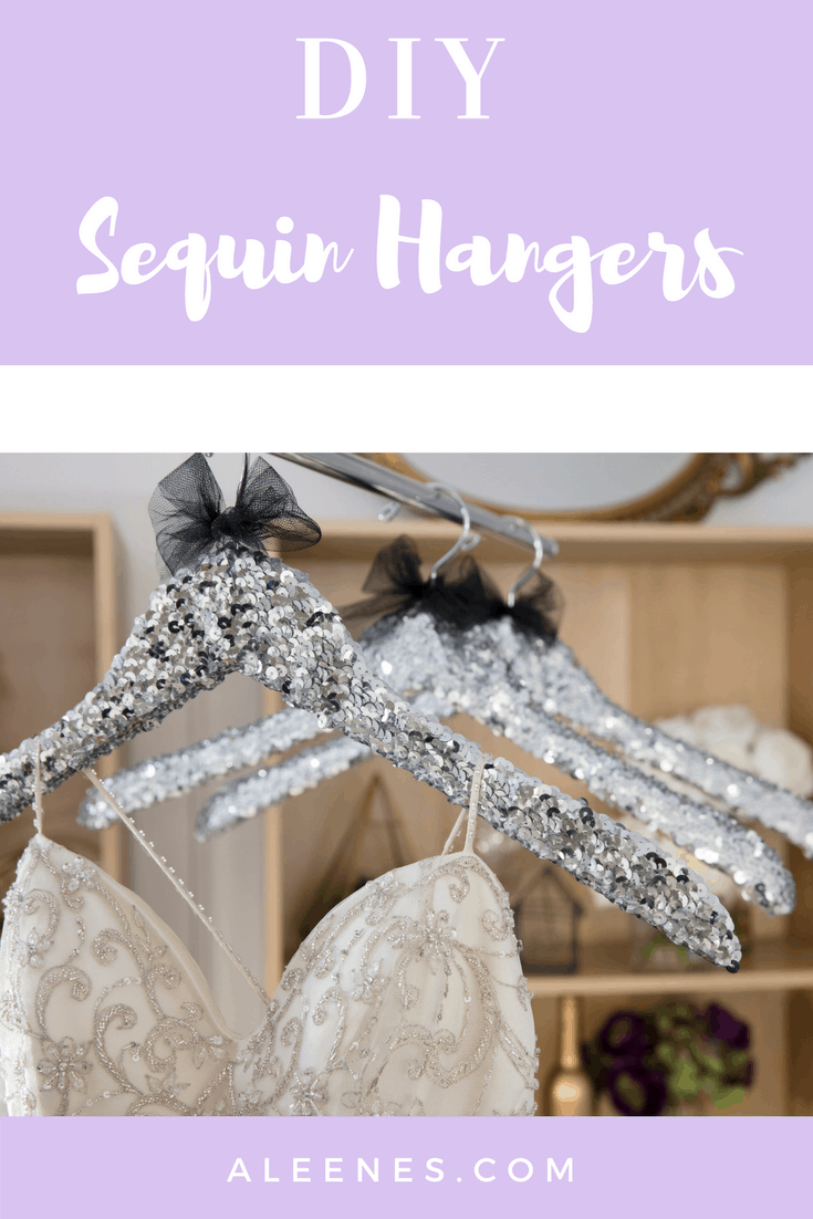 DIY sequinned hangers