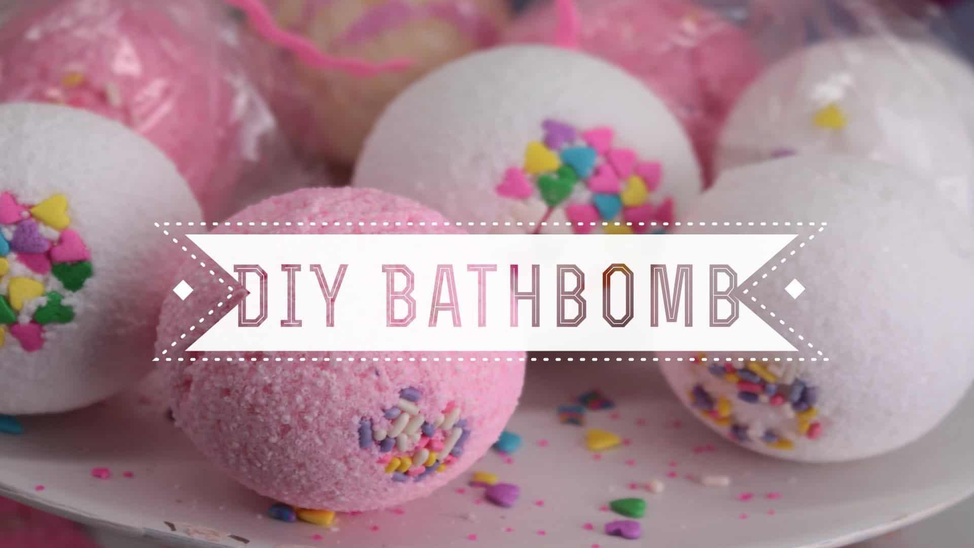 DIY sprinkle bath bombs