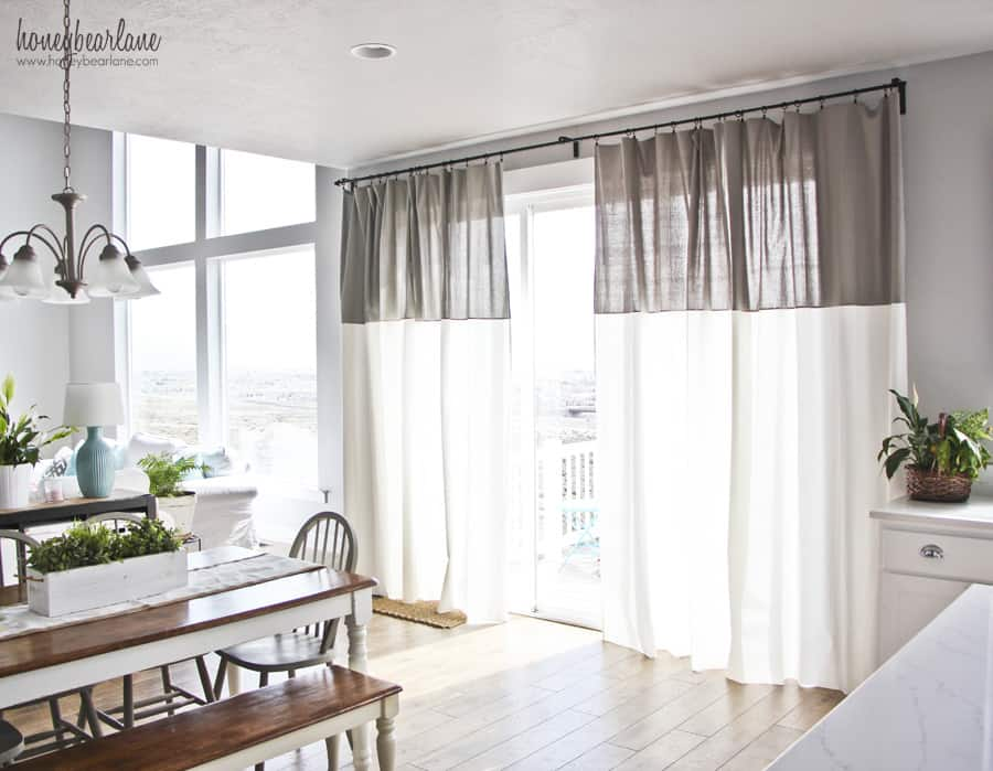 DIY two-toned curtains