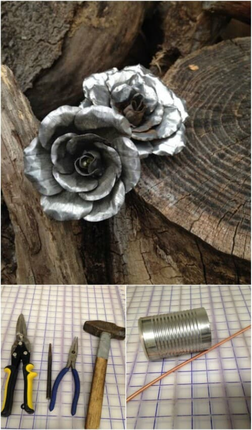 Delicate tin roses