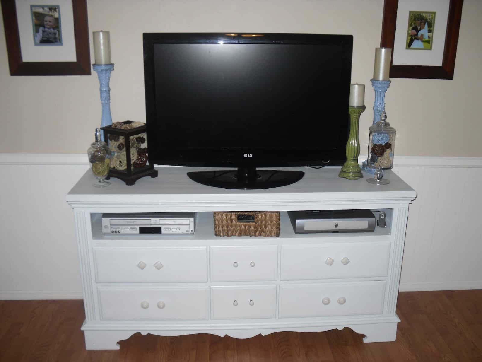 Dresser to TV stand with drawers