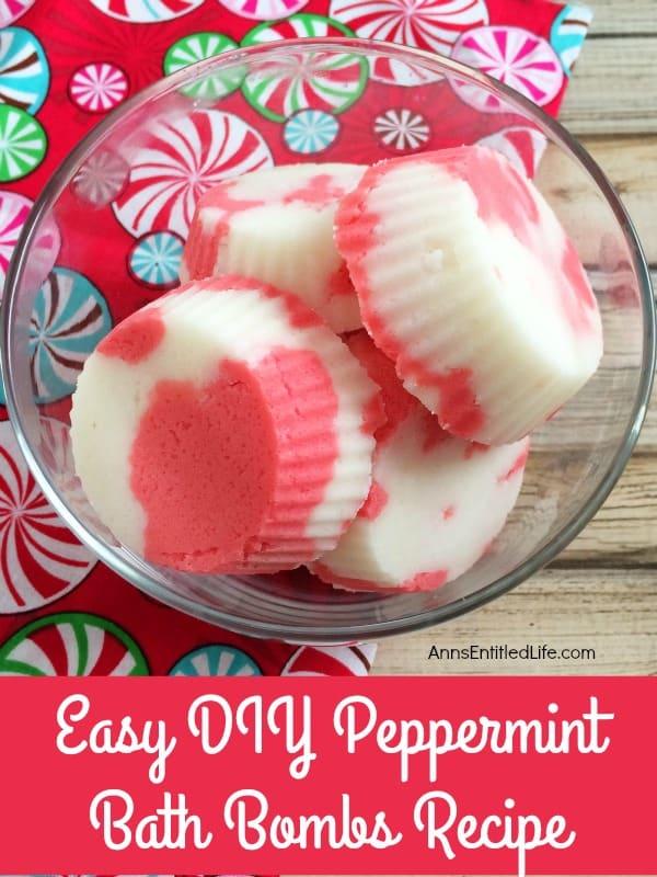 Easy DIY peppermint bath bombs