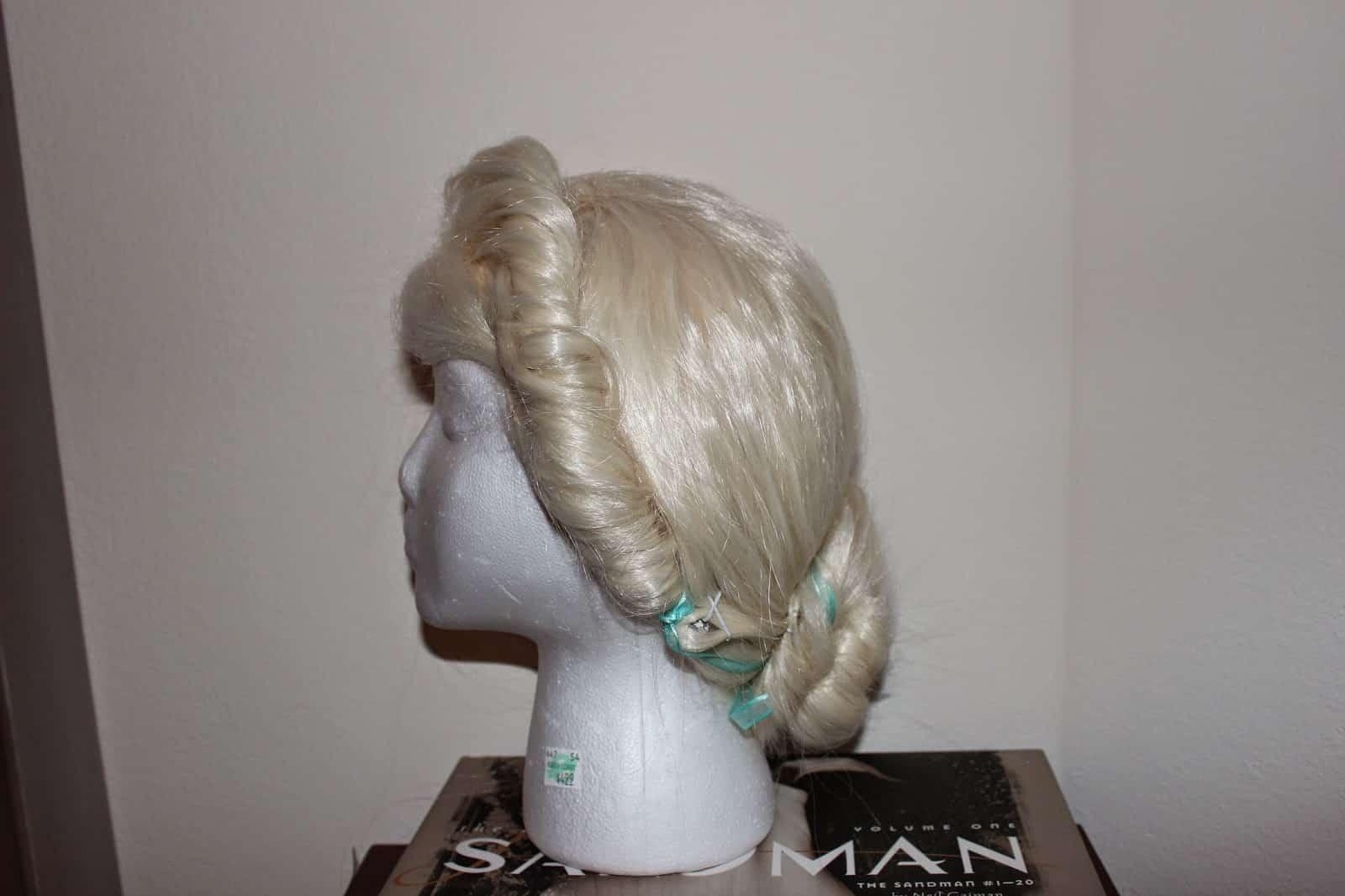 Elsa's coronation hair from Frozen