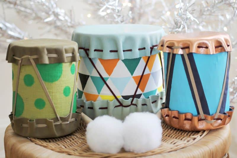 Fabric and tin can drums