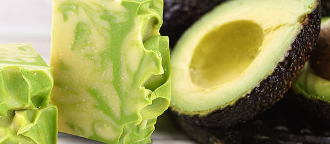Homemade avocado soap with argan oil