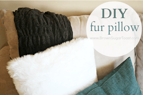 Homemade faux fur pillow