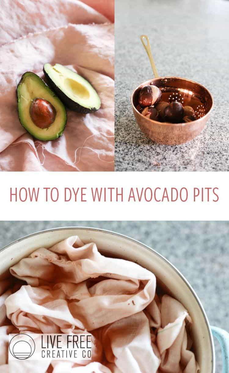 How to dye fabric with avocado pits