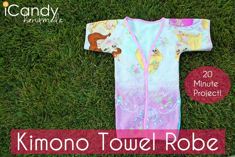 Kids' towel kimono