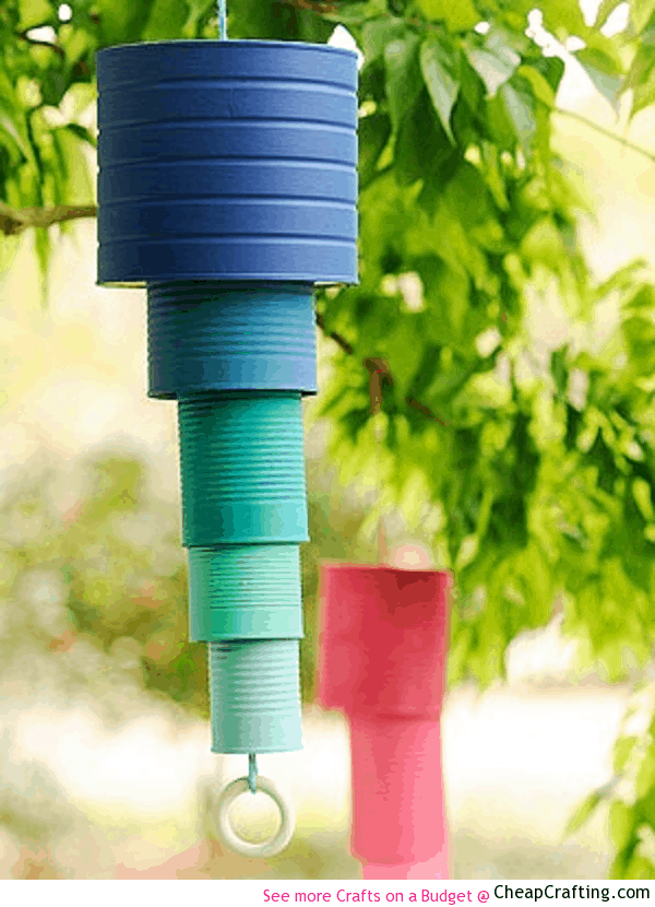 Layered ombre tin can chimes