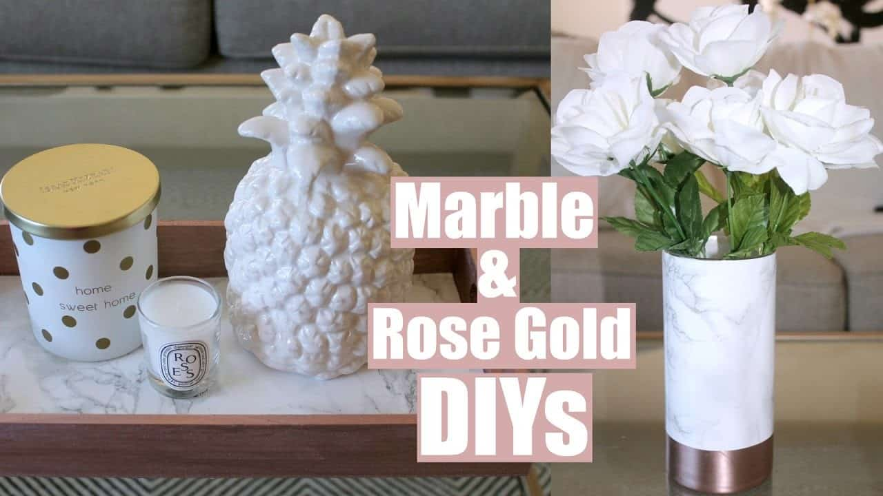 Marble and rose gold decor