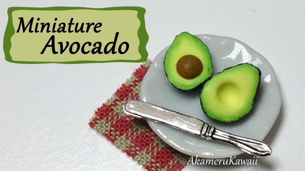 Miniature polymer clay avocados
