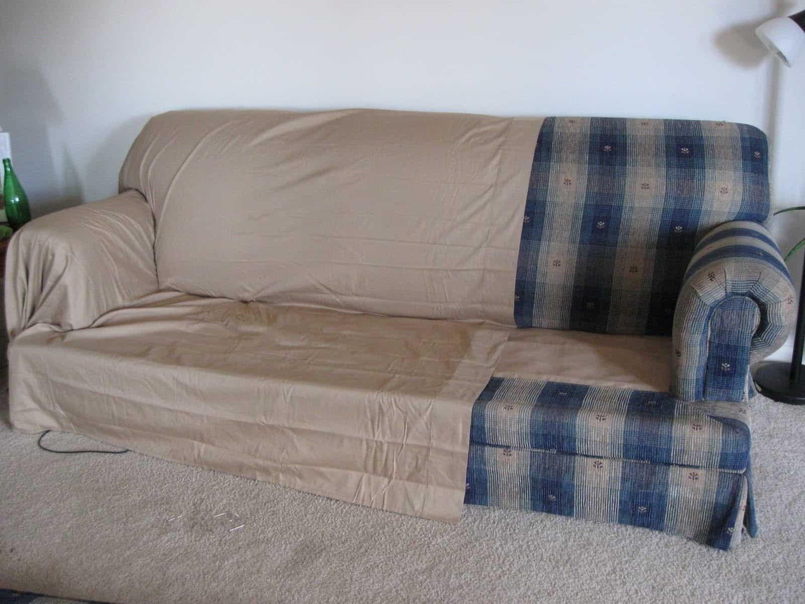 No-sew couch slip
