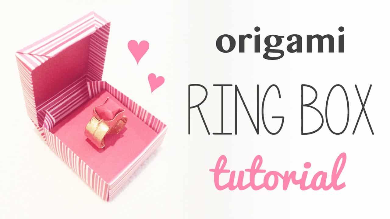 Origami ring box