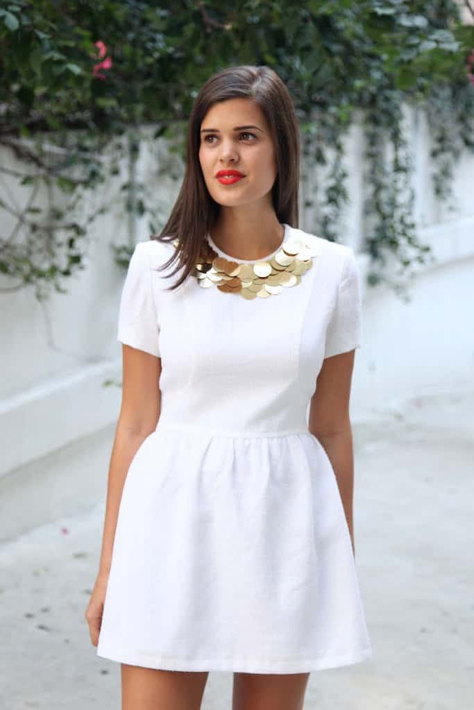 Piallette collar dress