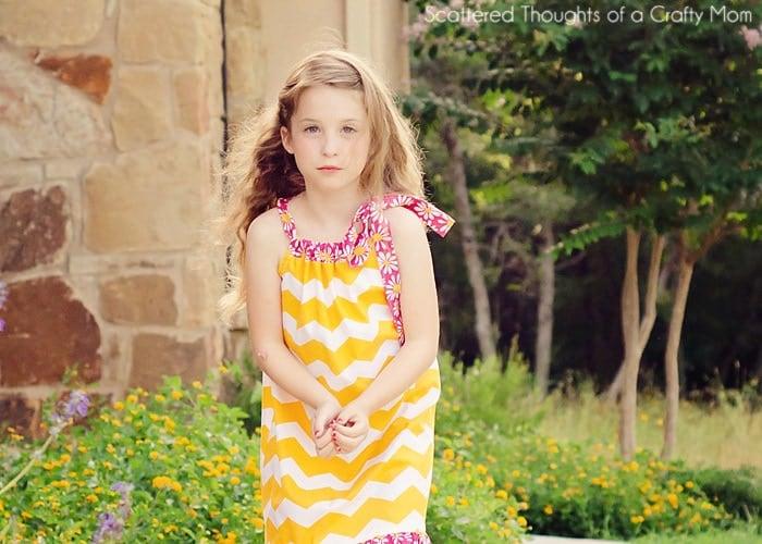Pillwocase dress for a bigger kid