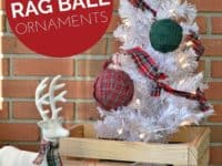 Plaid rag ball ornaments 200x150 Going Classic with Pattern: Plaid Inspired Projects