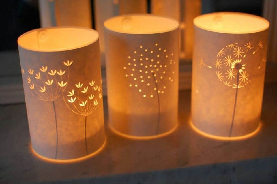 Pretty paper candle luminaries