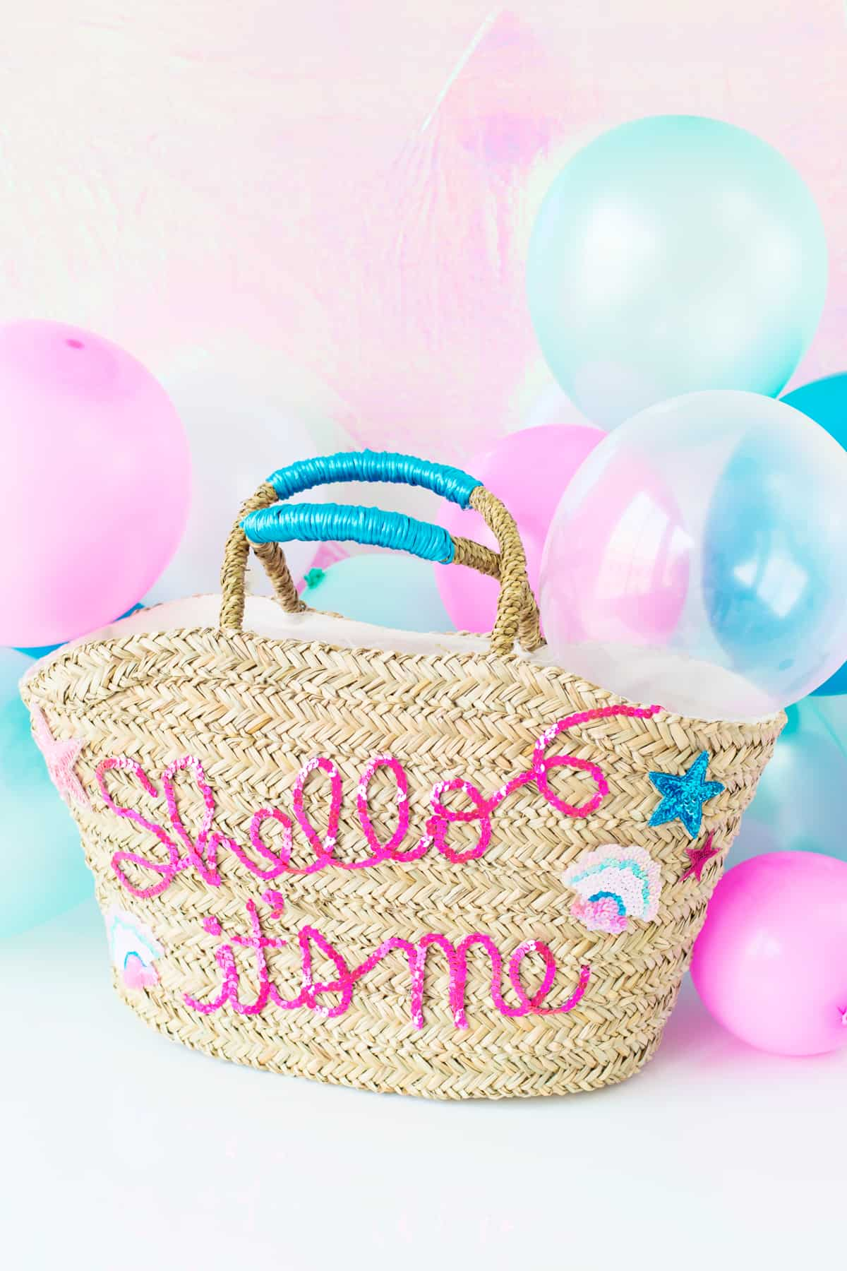 Sequinned quote bag
