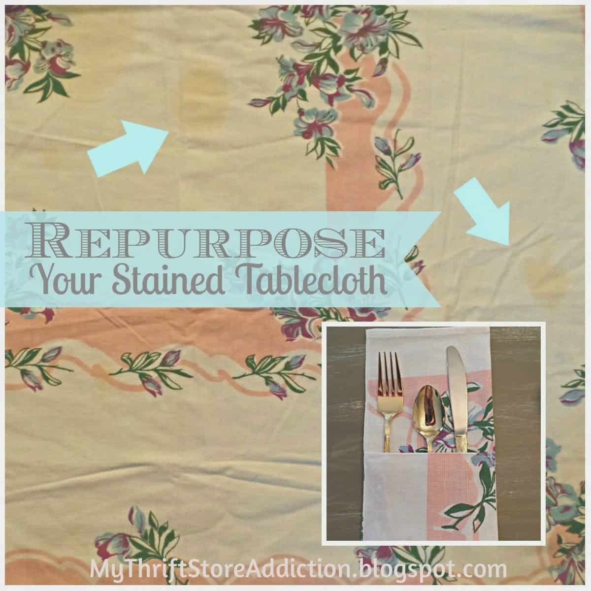 Tablecloth to flatware pockets
