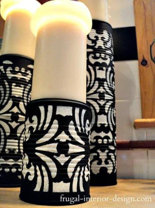 Tin candle pedestals