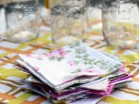 Upcycled bed sheets napkins 200x150 15 Creative and Easy Ways to Upcycle Used Household Linens