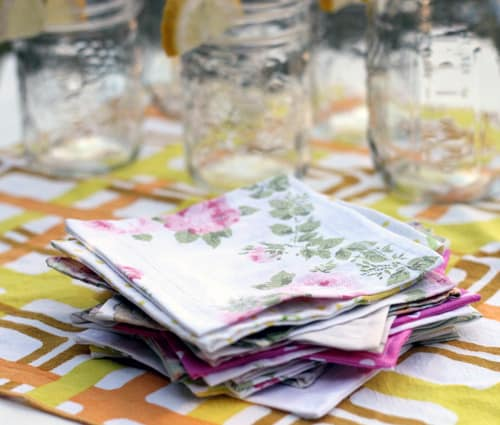 Upcycled bed sheets napkins