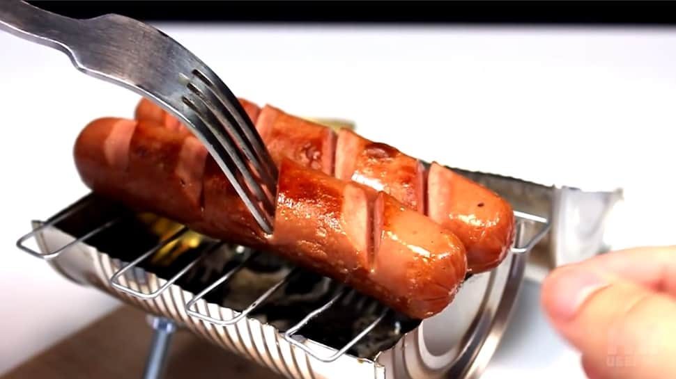 tin can hot dog grill