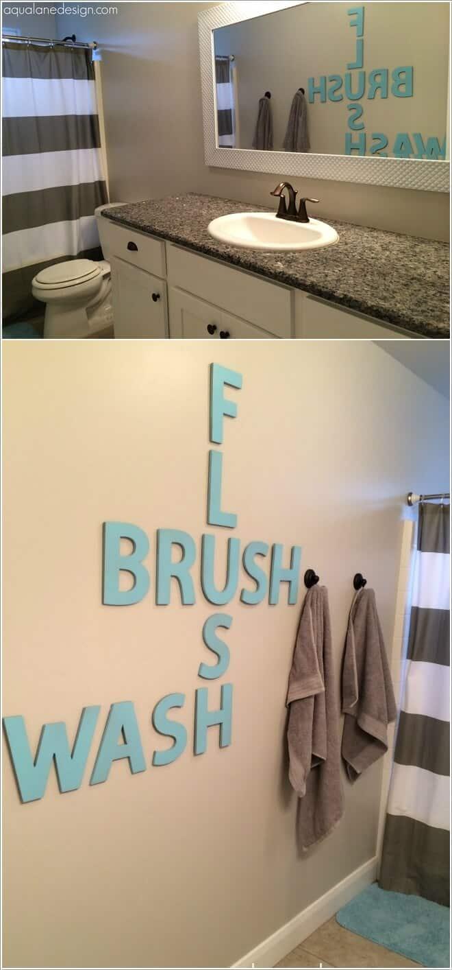 Bathroom crossword art