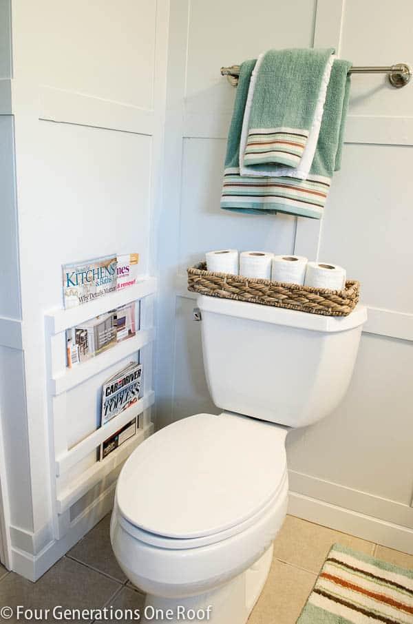Bathroom magazine rack