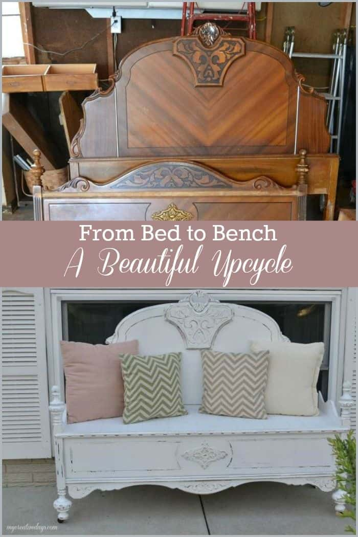 Bed set to beautiful bench