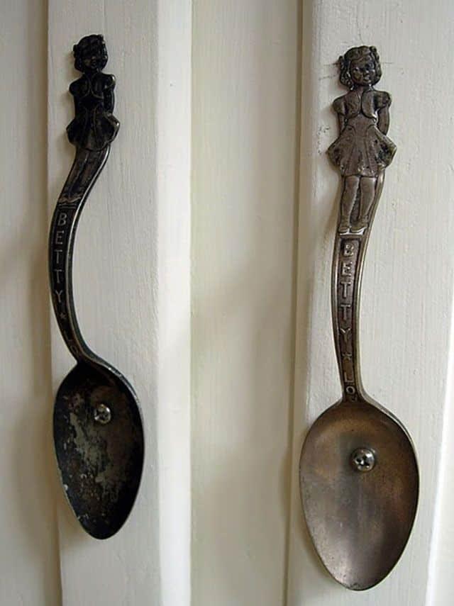 Bent spoon cupboard handles