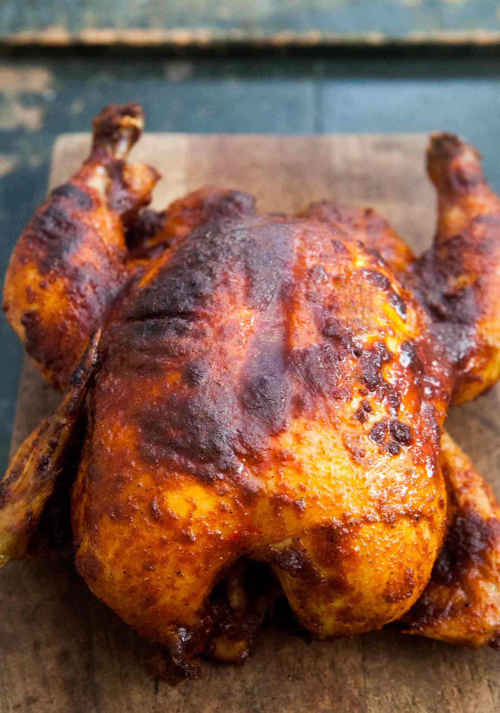 Crockpot chickenw ith home blended smoked BBQ chicken rub