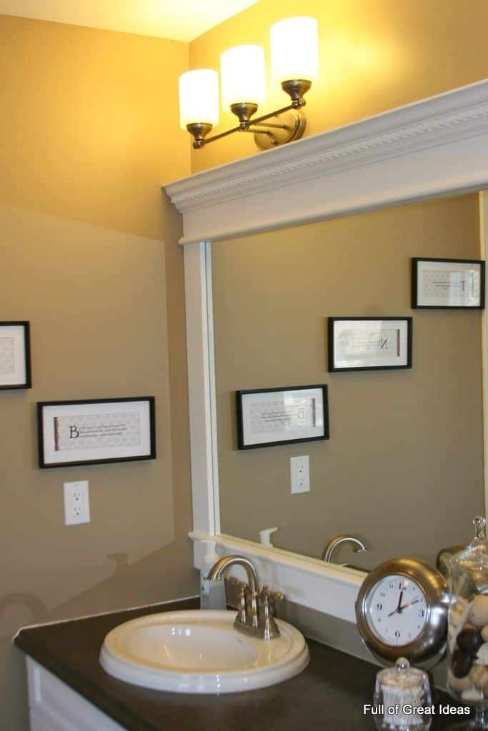 Crown molding framed mirror