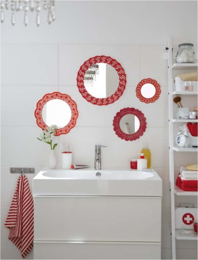Cute doily wall mirrors