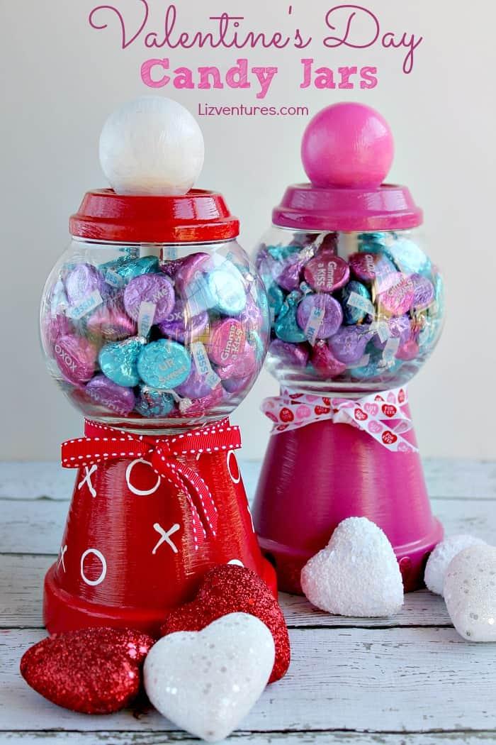 DIY Valentine's Day candy jar