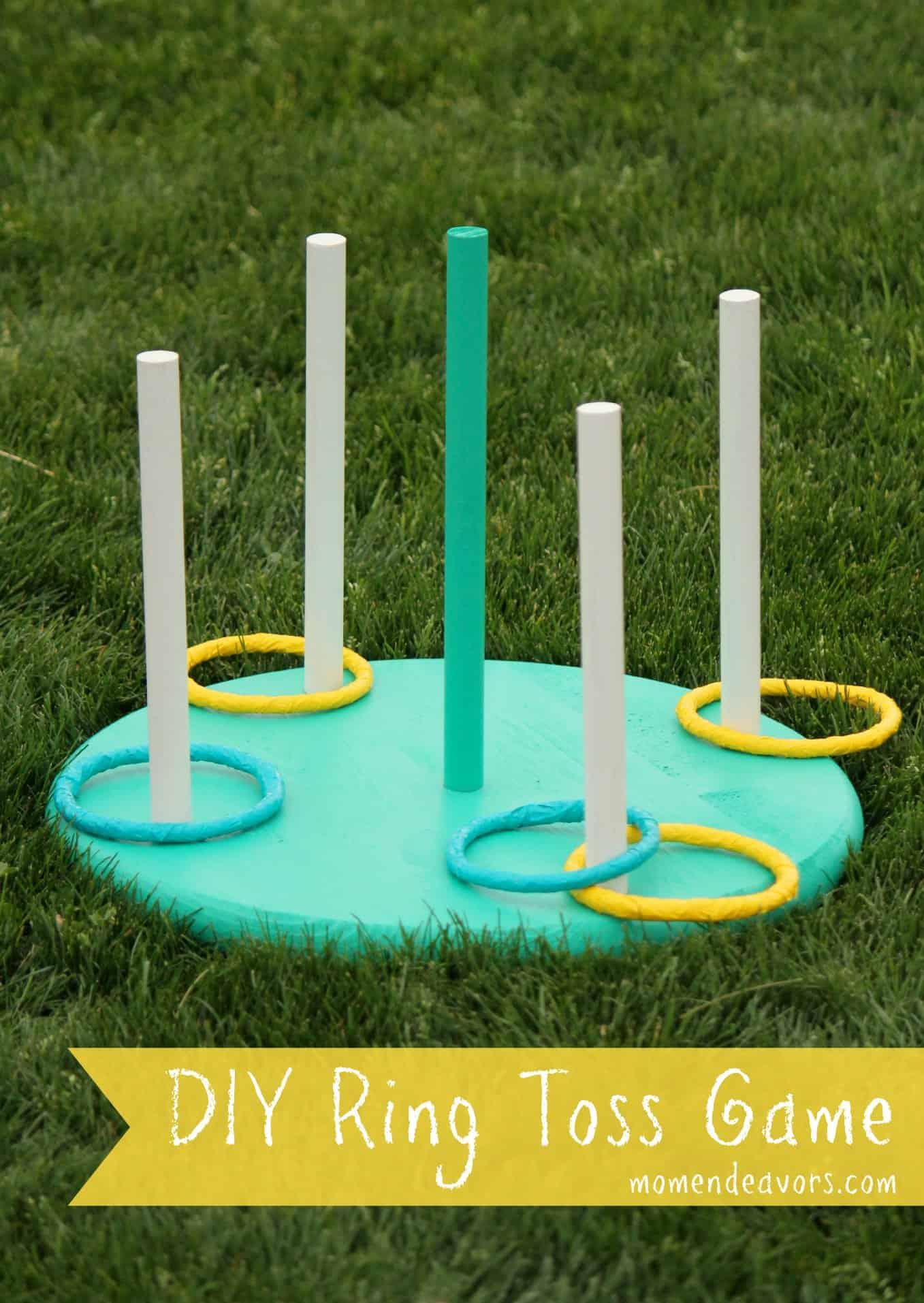 DIY backyard ring toss