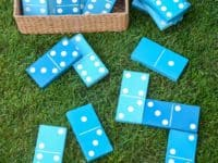 DIY lawn dominoes 200x150 Fun Family Time for Spring and Beyond: Homemade Outdoor Games