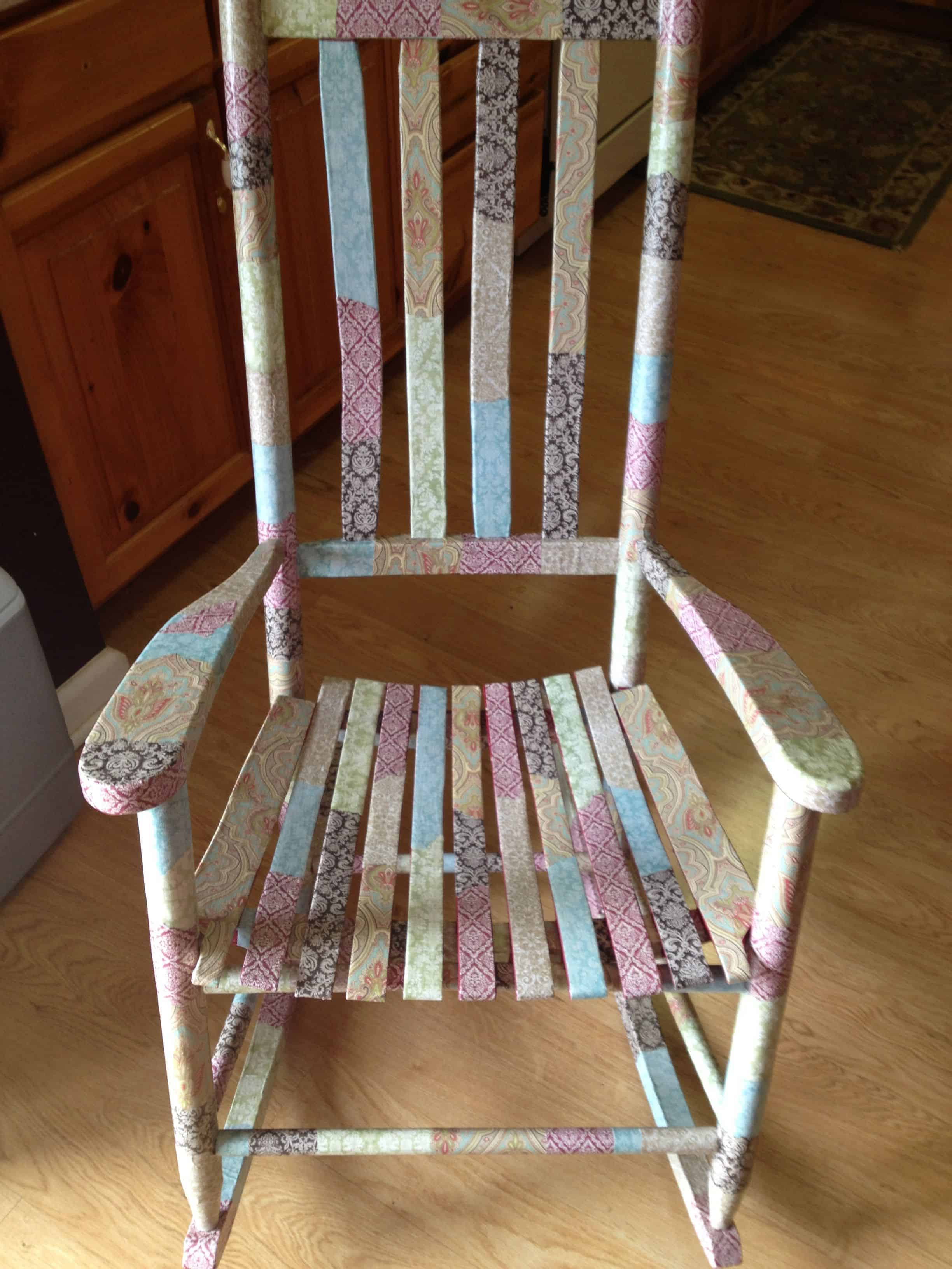 Decoupaged rocking chair