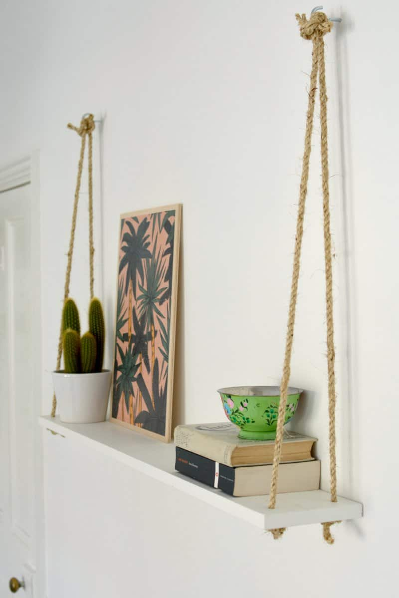 Easy rope shelf
