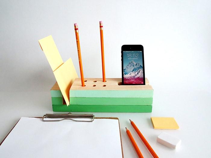 Easy wooden block organizer