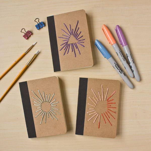 Embroidered Notebook DIY